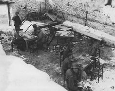 17th Airborne Division fought in the Bulge for 26 consecutive days in awful climatic conditions. This photo from january 28, 1945 illustrates the poor conditions of the men during this month.