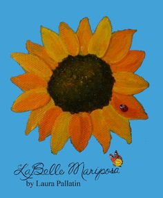 Happy little sunflower will be the center of a pendant... soon!!!