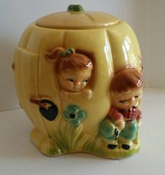 Peter Peter Pumpkin Eater Cookie Jar R.R.P Co. Wish I Knew the Other Verses Only You Seemed to Know, Mama. I Should Have Written Them Down I Guess.