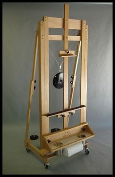 studio easel front view - David Sorg easel