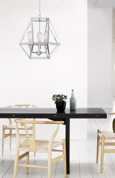The Beacon Lighting Vaille 3 light pendant in chrome with chrome lampholders Dining Pendant, Kitchen Pendant Lighting, Kitchen Pendants, Beacon Lighting, Home Lighting, 3 Light Pendant, Pendant Lights, Kitchen Designs, Chrome
