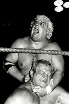 Dusty Rhodes choking Dick The Bruiser