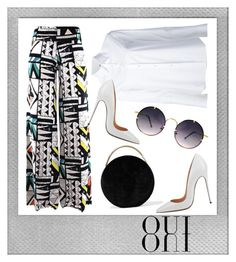 """""""Buttoned-up Shirt"""" by adln99 on Polyvore featuring Polaroid, Misha Nonoo, Eddie Borgo, Oui and Spitfire"""