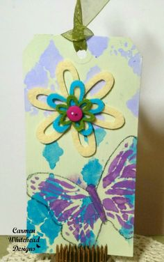 Easter basket tag for Bella Crafts created by www.carmenwhitehead.com