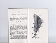 Antique  Singer Redeye Sewing Machine Instruction Manual