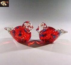 Murano Glass Red Lovely Animal Birds