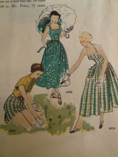 1948 Vogue patterns fashion illustration