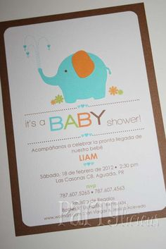 Elephant Baby Shower | CatchMyParty.com