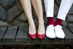 Hochzeits-Füße Weiß-Rot | Angelika und Oli - Angela Pfeiffer