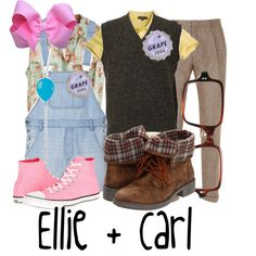 """Young Carl and Ellie"" by jami1990 on Polyvore Halloween costume idea!"