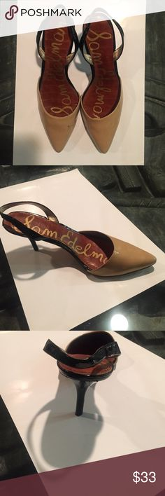 SAM EDELMAN sling back kitten heels. SAM EDELMAN sling back kitten heels. 1.5 inch heel. Perfect for meetings and  elegant events. Sam Edelman Shoes Heels