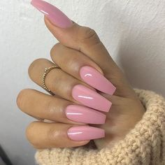 In search for some nail designs and ideas for your nails? Here's our list of 32 must-try coffin acrylic nails for fashionable women. Perfect Nails, Gorgeous Nails, Love Nails, Fun Nails, Pretty Nails, Ongles Roses Clairs, Faux Ongles Gel, Soft Pink Nails, Nagel Gel