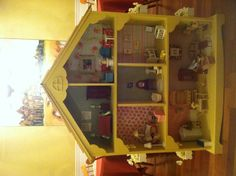 Dollhouse made from dollhouse bookcase