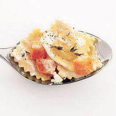 Ravioli with Sweet Potatoes and Thyme - Cheese Ravioli Recipe - Delish.com