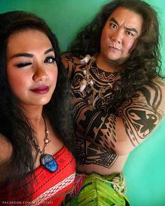 Moana & Maui cosplayers!! So gooood <3