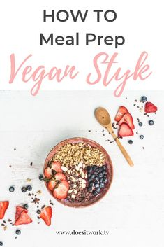 How to Meal Prep the Vegan Way! Learn why turning vegan is better for your health, and how to meal prep for the week vegan style! Vegan Meal Plans, Vegan Meal Prep, Vegan Meals, Healthy Meals, Vegan Recipes Easy, Vegetarian Recipes, Free Recipes, Group Meals, Food Groups