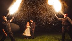 Wedding fireworks and sparklers are a thing of the past! Fire Breathers are the way to go! Wedding Pins, Our Wedding, Wedding Photos, Dream Wedding, Wedding Ideas, Wedding Fireworks, Engagement Presents, Rockabilly Wedding, October Wedding