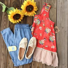 """JUNE & BEYOND BOUTIQUE on Instagram: """"So excited to have warm weather... & your closet is too!!! Come by to get all your weather necessities #juneandbeyondboutique #summerfashion #weekendwear #theperfecttank #casual #ootd #toms"""""""