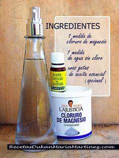 Aceite de Magnesio casero, ingredientes