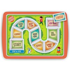 Dinner Winner Kids Plate Fred Board Game Fun For Fussy Eaters Divided Tray Dinners For Kids, Kids Meals, Toddler Meals, Kids Plates, Fussy Eaters, Picky Eaters, Fun Board Games, Food Trays, Thing 1