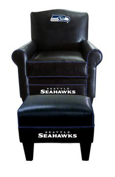 Seahawks Game Time arm chair and ottoman