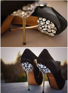 Bling your high-heel shoes