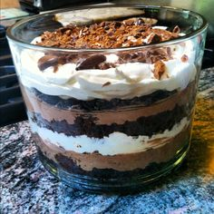 Better than sex Aka: chocolate layered trifle