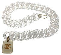 Chanel Chanel #4566 Oversized Clear Chain CC Pendant Gold charms two way belt and necklace