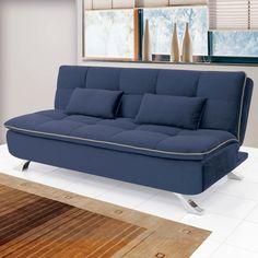 Sofá cama Mayara Linoforte 906 Azul Jeans