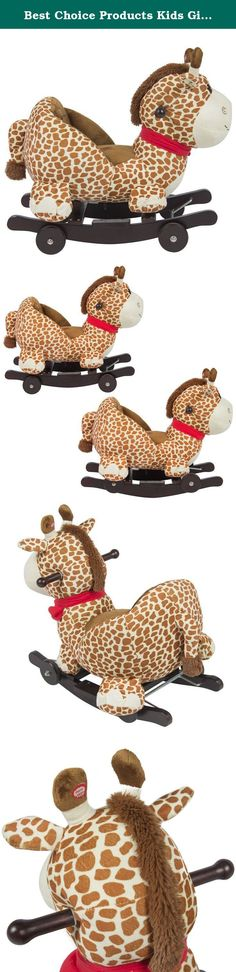 Best Choice Products Kids Giraffe Animal Rocker W/ Wheels Children Ride On Toy Plush Rocking Chair Ride On. Best Choice Products presents this new plush Giraffe rocker. This plush toddler rocker with wrap around cushion is a modern approach to the traditional rocking horse. Recommended for toddlers, the soft and plush material will allow a child to comfortably ride with the wrap around cushion to secure them in place. Beneath the plush exterior, a sturdy wood base supports your child...