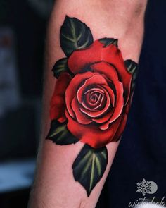 Realism Red Rose Tattoo on forearm By Christopher Hedlund - Winterhalo NYC Tattoo Artist tattoos best art illustration illustrator realistic realism drawing painting colorful bright pretty beautiful color New York City Chris floral flowers Nyc Tattoo Artists, Rose Tattoo Forearm, Floral Flowers, Red Roses, Illustrator, Illustration Art, Bright, Colorful, York
