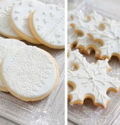 Frozen / Eiskönigin Party - Schneeflocken Kekse