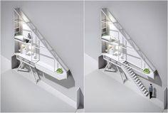 Plans 3D de la maison la plus étroite du monde