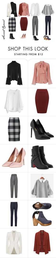 """""""smart casual"""" by kylakean on Polyvore featuring Chicwish, 10 Crosby Derek Lam, WearAll, Loramendi, Yves Saint Laurent, Topshop, Christian Louboutin, Maje, Michael Kors and Free People"""