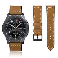 Classic Genuine Leather Wrist Band for Samsung Gear S3 Frontier Watch Brown #Samsung
