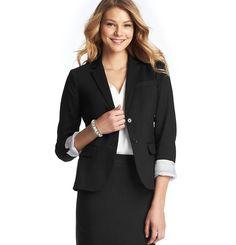 Loft - Women's Jackets: Women's Coats, Blazers, Outerwear, Trench Coats: LOFT - Clean Cotton Blend Jacket