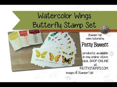 How to Stamp Watercolor Wings Butterfly set - Video Tutorial | Patty's Stamping Spot | Bloglovin'