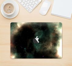 """The Dark Green Glowing Universe Skin Kit for the 12"""" Apple MacBook"""