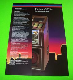 CITY II By NSM 1984 ORIGINAL JUKEBOX PHONOGRAPH PROMO SALES FLYER BROCHURE #JUKEBOX  #NSM