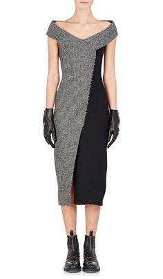 BALENCIAGA Off-The-Shoulder Dress