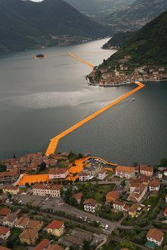 Pływającego molo, Sulzano, 2016 - Christo i Jeanne-Claude
