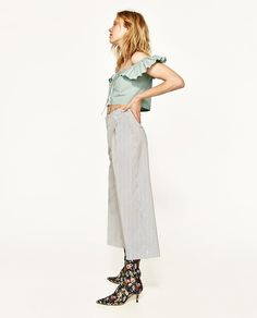 TROUSERS WITH PLEATED WAIST DETAIL