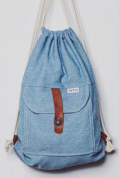 TURNBEUTEL - KETTU-Hangdemachte Unikate aus Würzburg Diy Backpack, Rucksack Backpack, Drawstring Backpack, Fashion Bags, Fashion Backpack, Simple Bags, Summer Wear, Beautiful Bags, Clutch Bag