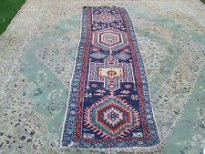 ANTIQUE PERSIAN OR TURKISH WOOLEN RUNNER 108 INCHES LONG AND 28.5 INCHES WIDE