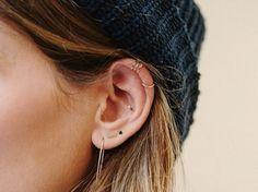 Los piercings de oreja triunfan en Instagram. Te enseñamos todas las posibilidades y las fotos más trendy...