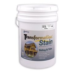 Sashco Transformation Siding and Trim Stain, 5 Gallon Pail, Natural (Pack of 1)