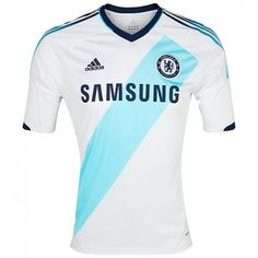 Chelsea were one of the first Premier League teams to unveil their home  shirt and the Blues have today ( June released an away kit for the fo a97bfb3303206