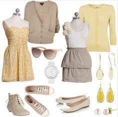 SAD THINGS & LOVELY THINGS + CHIC AND CHEAP IN YELLOW AND TAUPE