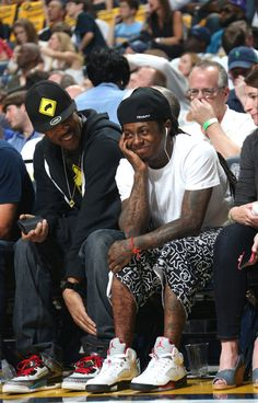 "Lil Wayne Court Side in Air Jordan 5 Retro ""Fire Red"""