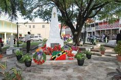 "Photo: Lest We Forget!  The ""#Nevis War Memorial.  http://nevisblog.com/nevis-remembers-world-war-heroes.html"